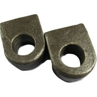 """Weld on Gate Eyes Self Colour 3/4"""" (19MM Straight End Flat Hinges) x2"""