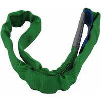 Lifting Round Sling 2 Ton 2M EWL (4M Circ Polyester Endless Strop 2000KG Green)