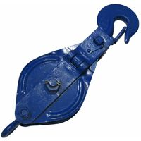 3 Ton 175MM Snatch Block With Safety Hook Blue Painted - 19MM Wire Rope Lifting