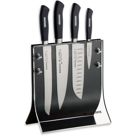 Dick Messerblock mit Küchenmesser ActiveCut Kochmesser X30Cr13 Stahl Messer