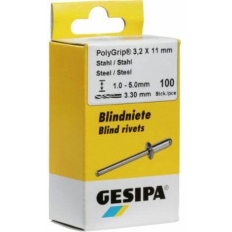Blindniete Stahl/Stahl 4x6 mm Mini-Pack mit 100 Stück