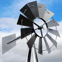 US Windmill 245cm mulino a vento in grigio silver mulino a vento carillon mulino a sfere cuscinetto a sfere