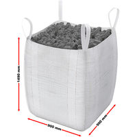 Sacco per calcinacci macerie rifiuti edili pesanti BigBag 90x90x145cm