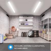 Oeegoo 33W Tubo LED de 120 cm, luz de techo de iluminación potente, IP65 a prueba de agua, 3300LM, conexión de tira de LED en serie, lámpara de techo para taller, garaje, oficina, terraza, bodega, blanco neutro 4000K
