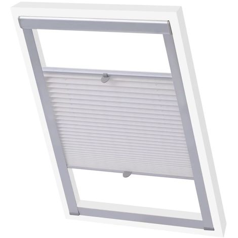 Hommoo Pleated Blinds White 206 VD00804