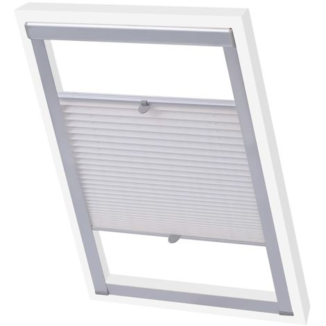 Hommoo Pleated Blinds White C04 VD00806