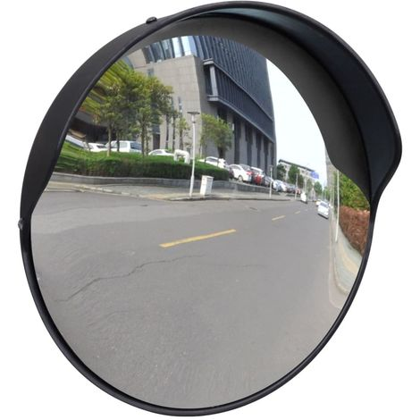 Convex Traffic Mirror PC Plastic Black 30 cm Outdoor VD04101