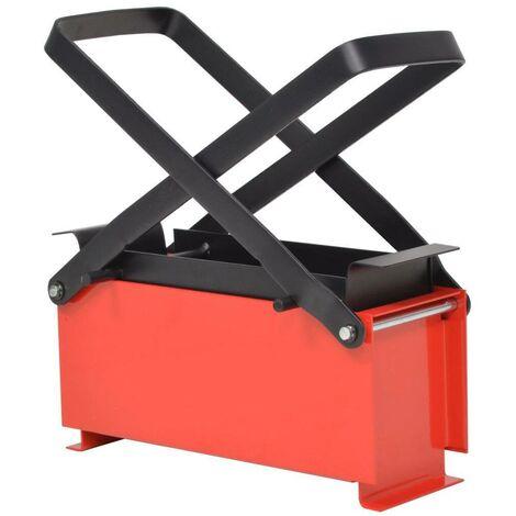Hommoo Paper Log Briquette Maker Steel 34x14x14 cm Black and Red VD04938