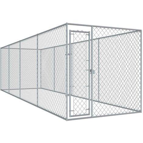 Hommoo Outdoor Dog Kennel 7.6x1.9x2 m VD06399