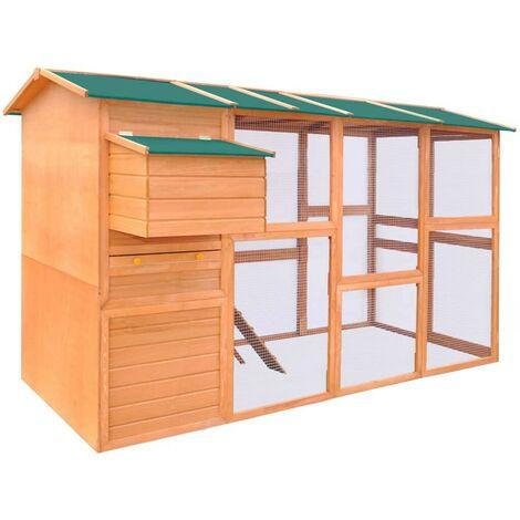 Hommoo Chicken Coop Wood 295x163x170 cm