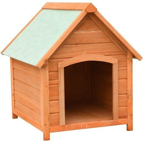 Hommoo Dog Cage Solid Pine & Fir Wood 72x85x82 cm