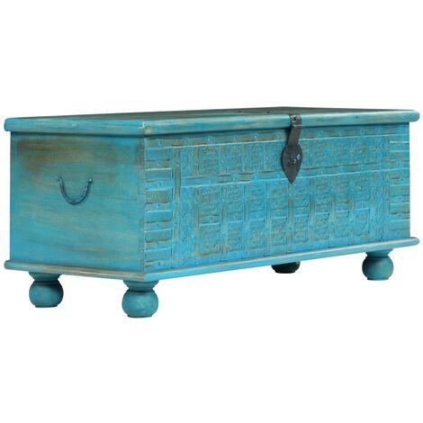 Hommoo Storage Chest Solid Mango Wood Blue 100x40x41 cm VD12410