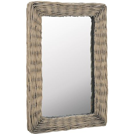 Hommoo Mirror Wicker Brown 40x60 cm VD12764