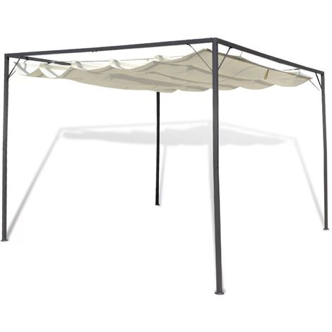 Hommoo Garden Gazebo with Retractable Roof Canopy VD26251