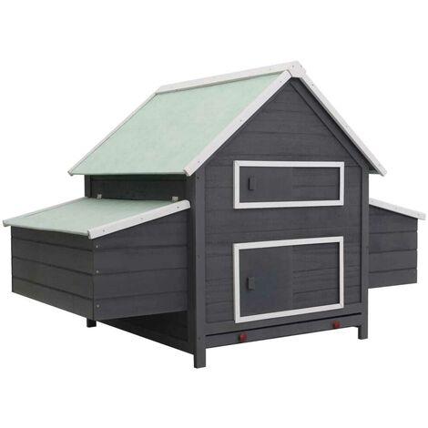 Hommoo Chicken Coop Grey 157x97x110 cm Wood