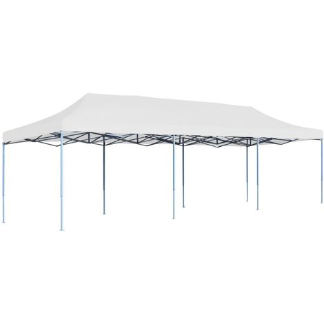 Hommoo Folding Pop-up Party Tent 3x9 m White VD46733