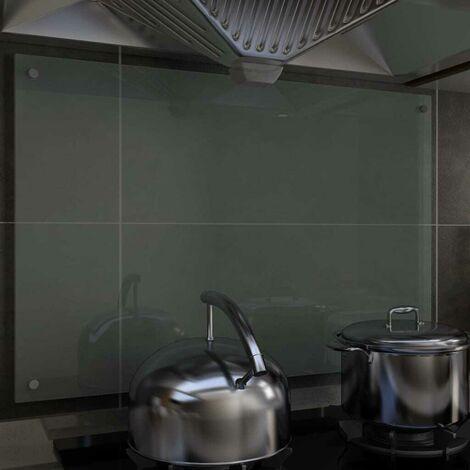Hommoo Kitchen Backsplash White 90x60 cm Tempered Glass