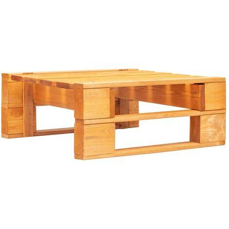Hommoo Garden Pallet Ottoman FSC Wood Honey Brown VD29881