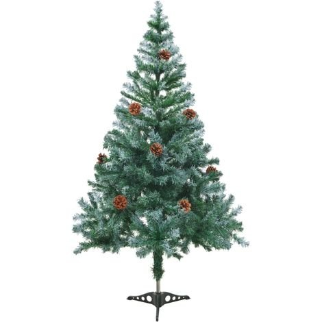 Hommoo Frosted Christmas Tree with Pinecones 150 cm VD30866