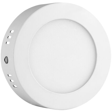 Hommoo 2 Piece 6W Surface Mounted Panel Light Neutral White Round 220V LLDDE-MBD10Z6WX2