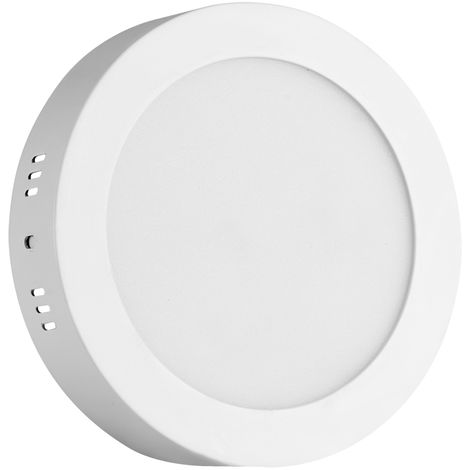 Hommoo 1 Piece 12W Surface Mounted Panel Light Cool White Round 220V LLDDE-MBD10L12W