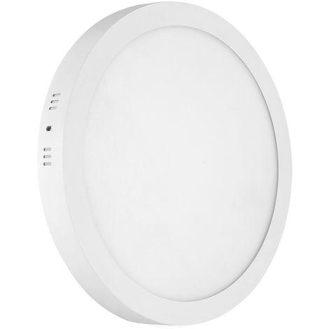 Hommoo 1 Piece 24W Surface Mount Panel Light Neutral White Round 220V