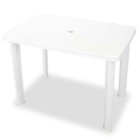 Hommoo Garden Table White 101x68x72 cm Plastic VD27916