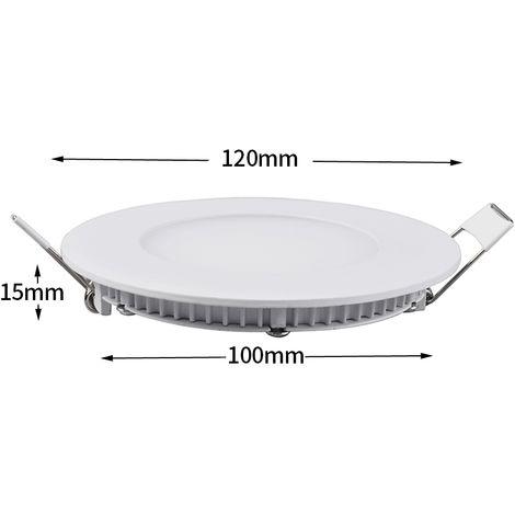 Hommoo 2 Piece 6W 9W 12W 15W 18W LED Recessed Ceiling Panel Down Lights Bulb Slim Lamp LLDDE-MC0014802X2