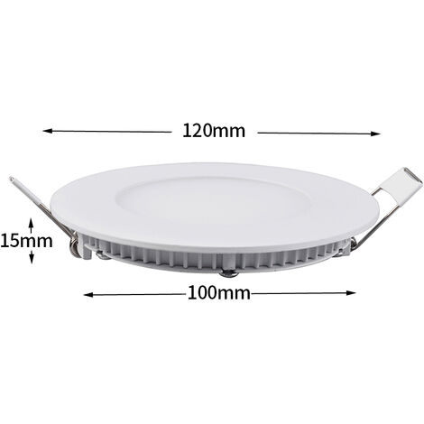 Hommoo 3 Piece 6W 9W 12W 15W 18W LED Recessed Ceiling Panel Down Lights Bulb Slim Lamp LLDDE-MC0014802X3