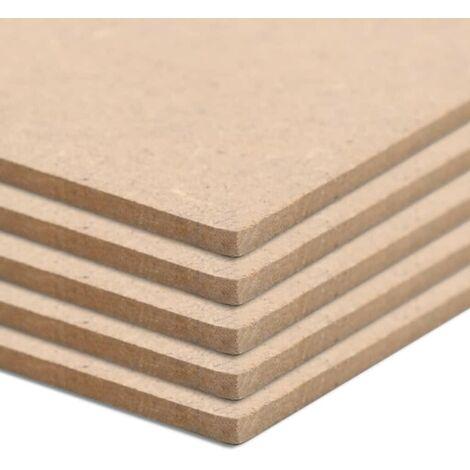 Hommoo 20 pcs MDF Sheets Square 60x60 cm 2.5 mm VD05304