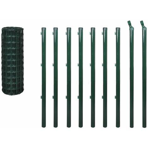 Hommoo Euro Fence Steel 10x1.2 m Green QAH03617