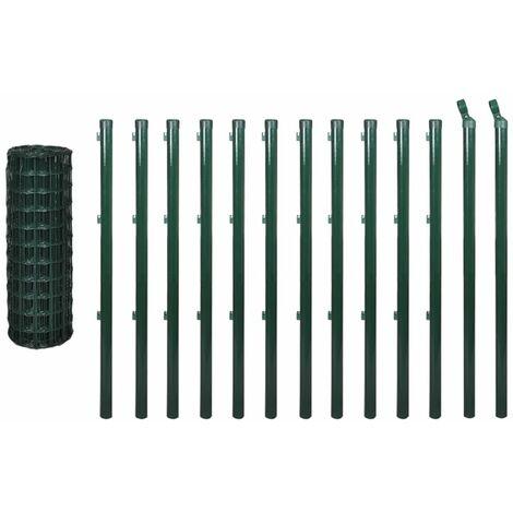 Hommoo Euro Fence Steel 25x1.2 m Green QAH03621