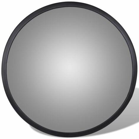 Convex Traffic Mirror Acrylic Black 30 cm Indoor QAH04100
