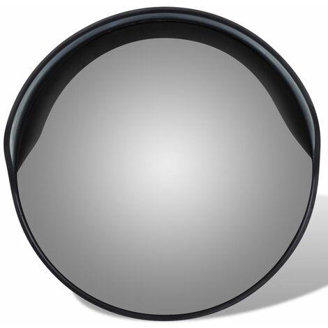 Convex Traffic Mirror PC Plastic Black 30 cm Outdoor QAH04101