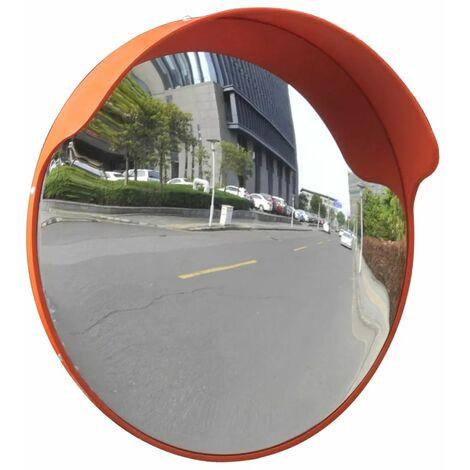 Convex Traffic Mirror PC Plastic Orange 45 cm Outdoor QAH04102