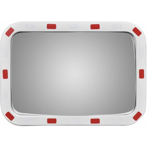 Convex Traffic Mirror Rectangle 40 x 60 cm with Reflectors QAH04104