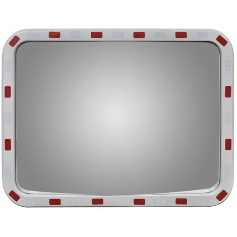 Convex Traffic Mirror Rectangle 60 x 80 cm with Reflectors QAH04105
