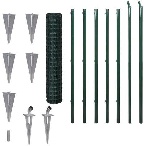 Hommoo Euro Fence Steel 10x1.7 m Green QAH04497