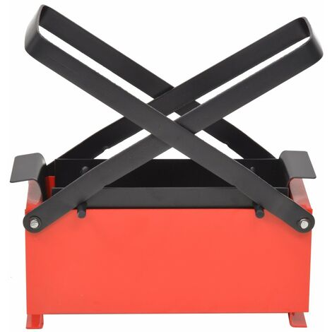 Hommoo Paper Log Briquette Maker Steel 34x14x14 cm Black and Red QAH04938