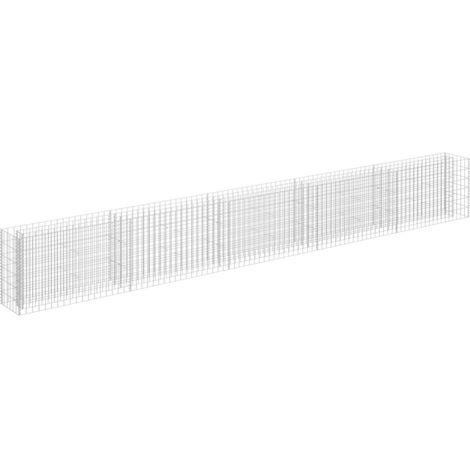 Hommoo Gabion Raised Bed Galvanised Steel 450x30x60 cm QAH35176