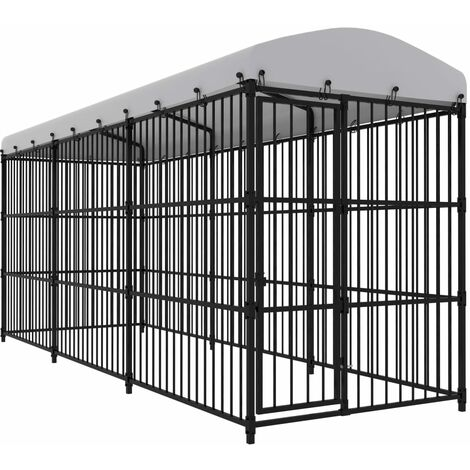 Hommoo Outdoor Dog Kennel with Roof 450x150x210 cm QAH33052