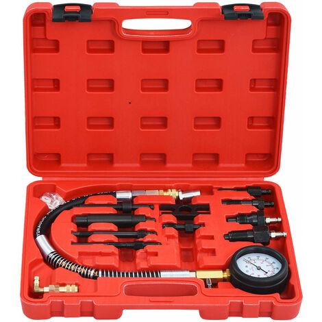 Hommoo 12 Piece Diesel Compression Gauge Test Kit QAH35678