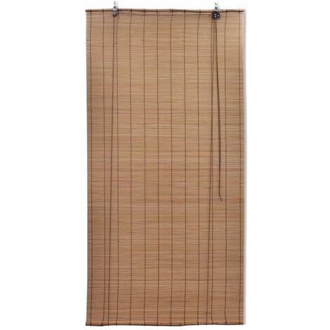 Brown Bamboo Roller Blinds 120 x 220 cm QAH08690