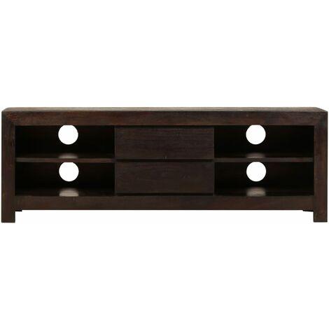 Hommoo TV Cabinet Solid Acacia Wood 120x30x40 cm Dark Brown QAH12035