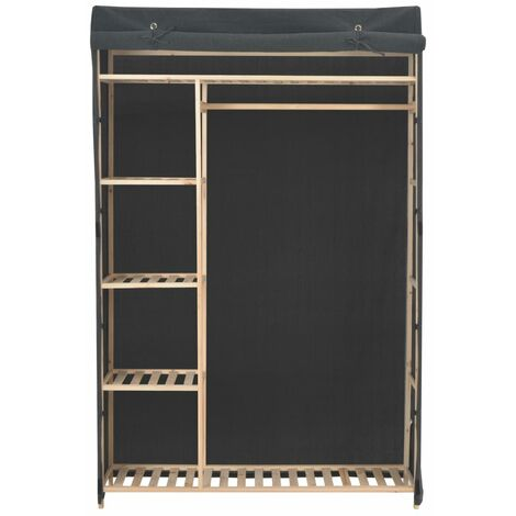 Hommoo Wardrobe Grey 110x40x170 cm Fabric QAH13998
