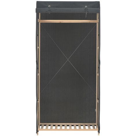 Hommoo Wardrobe Grey 79x40x170 cm Fabric QAH14002