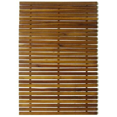 2 pcs Acacia Bath Mat 80 x 50 cm QAH15507