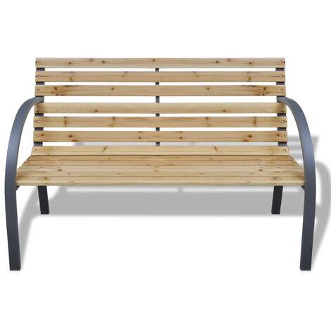 Hommoo Garden Bench 120 cm Wood and Iron QAH26338