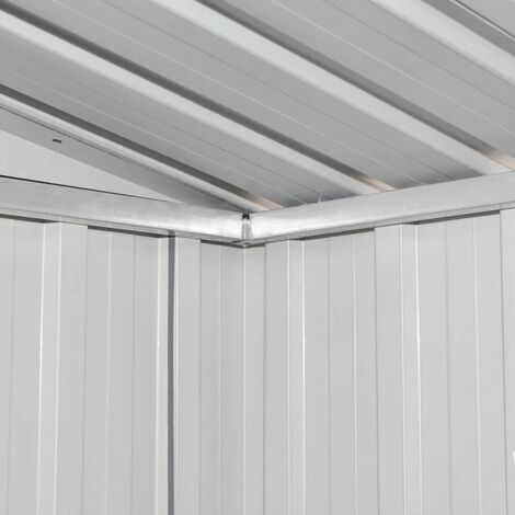 Hommoo Garden Shed Grey Metal QAH27431