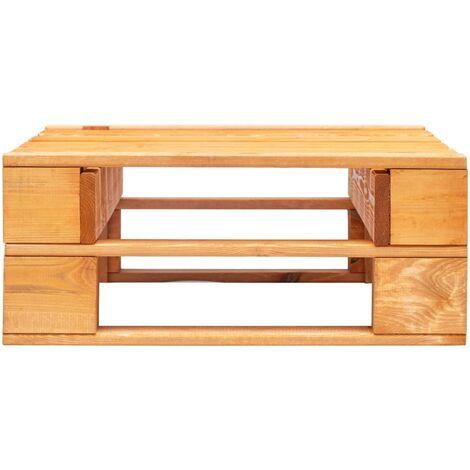 Hommoo Garden Pallet Ottoman Wood Honey Brown QAH29881